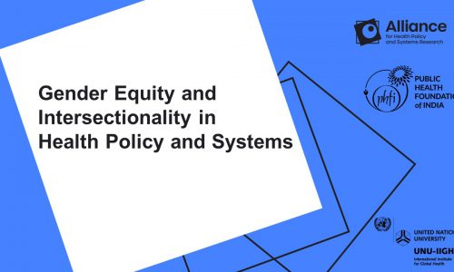 Gender Equity and Intersectionality in Health Policy and Systems